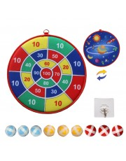NOSUBO Dart Board for Kids with 9 Hook Sticky Balls Safe and Classic Dart Gift for Ages 3-Year-Old and Up Boys and Girls