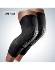 Knee Pads Compression Leg Sleeves One Pair Knee Brace for Basketball Football Wrestling Volleyball & All Contact Sports Size for Youth & Adult