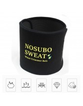 NOSUBO Adjustable Sweat Waist Trimmer Belt for Men & Women Premium Slimmer Trimmer